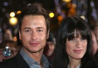 Stephane Rousseau and his girlfriend at the premiere of