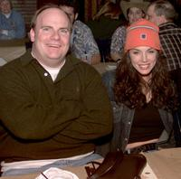 Kevin Farley and Krista Allen at the CBS's Super Bowl/Survivor ll viewing party.