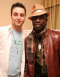 Jake Coco and Sam Sarpong at the Mercedes Benz Fashion Week Suites.