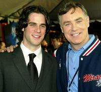 Eddie Cahill and Miracle Goalie Jim Craig at the premiere of
