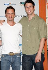 Carmine Giovinazzo and Eddie Cahill at the Roma Fiction Fest 2008.