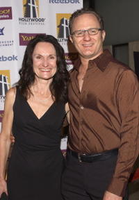 Beth Grant and Todd Holland at the premiere of