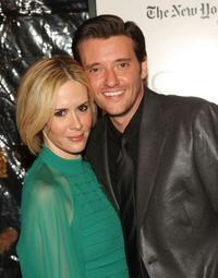 Sarah Paulson and Jason Butler Harner at the premiere of