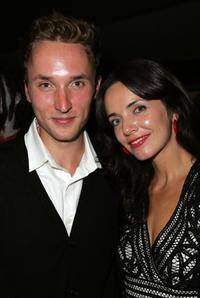 Joshua Close and Michelle Morgan at the world premiere of