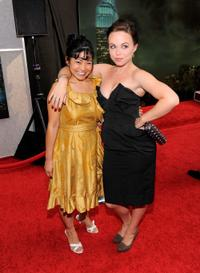 Di Quon and Amanda Fuller at the premiere of