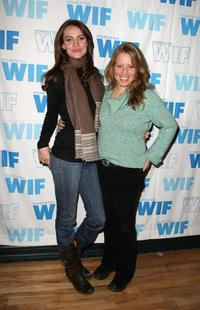 Saffron Burrows and Amy Redford at the Women in Film panel during the 2008 Sundance Film Festival.