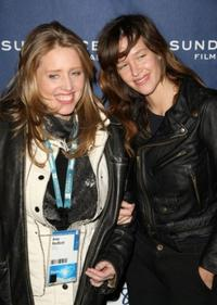 Amy Redford and Paz de la Huerta at the premiere of