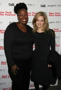 Sharon Wilkins and Jennifer Jason Leigh at the screening of