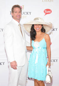 Matt Battaglia and Tina Battaglia at the 137th Kentucky Derby in Kentucky.