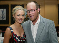 Kaitlin Doubleday and writer/director Rob McKittrick at the after party at the California premiere of