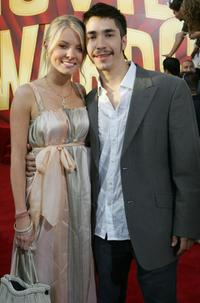 Kaitlin Doubleday and Justin Long at the 2005 MTV Movie Awards.