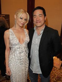 Charlotte Ross and Tim Kang at the 25th Anniversary Genesis Awards in California.