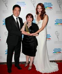 Tim Kang, Lyvia A. Martinez and Amanda Righetti at the 31st Annual College Television Awards.
