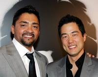 Reynaldo Gallegos and Tim Kang at the world premiere of
