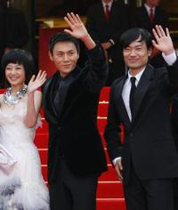 Zhuo Tan, Hao Qin and Wu Wei at the screening of