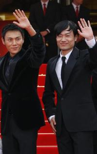 Hao Q and Wu Wei at the screening of