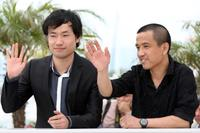 Wu Wei and Lou Ye at the photocall of