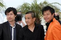 Wu Wei, Lou Ye and Chen Sicheng at the photocall of