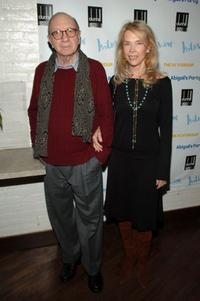 Neil Simon and his wife Elaine Joyce at the opening night party of