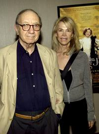 Neil Simon and Elaine Joyce at the special screening of
