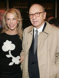 Elaine Joyce and Neil Simon at the opening night of