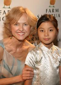 Jill Larson and Annie Ming at the Farm Sanctuary Gala 2004.