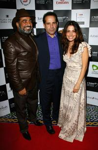 Sayed Badreya, Tony Shalhoub and Sarah Shahi at the premiere of