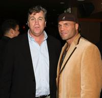 Tom Bernard and Randy Couture at a private party hosted by David Mamet for