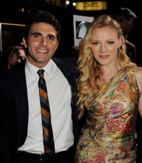 Miles Fisher and Emma Bell at the California premiere of