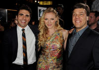Miles Fisher, Emma Bell and director Steven at the California premiere of