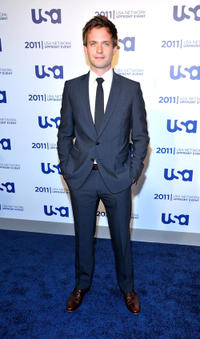 Patrick J. Adams at the 2011 USA Upfront in New York.