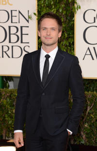 Patrick J. Adams at the 70th Annual Golden Globe Awards.