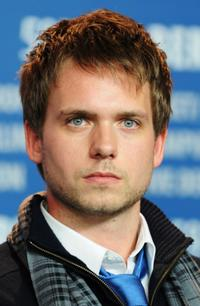 Patrick J. Adams at the press conference of