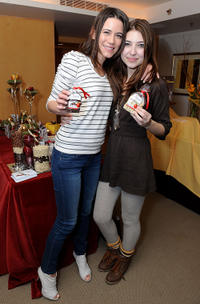 Nathalie Fay and Shelby Young at the 2011 DPA Golden Globes Gift Suite.