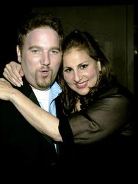 Dan Finnerty and Kathy Najimy at the after party of the opening night of