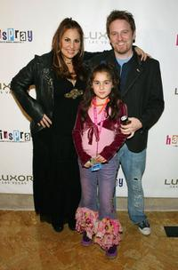 Kathy Najimy, Dan Finnerty and daughter Samia at the party of the opening night performance of