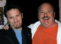 Dan Finnerty and Kyle Gass at the opening of