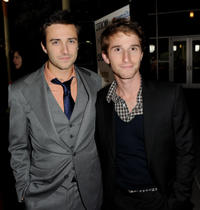 Reece Daniel Thompson and director Max Winkler at the California premiere of