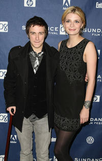 Reece Daniel Thompson and Mischa Barton at the premiere of