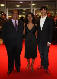Satish Kaushik, Tannishtha Chatterjee and Christopher Simpson at the premiere of