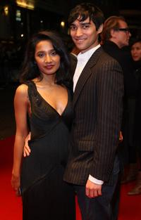 Tannishtha Chatterjee and Christopher Simpson at the premiere of