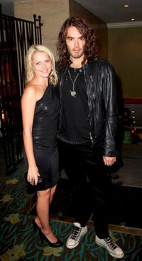 Teresa Palmer and Russell Brand at the O2 Silver Clef Awards Luncheon 2008.