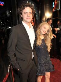 Douglas Smith and Amanda Seyfried at the premiere of