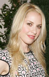 Leslie Grossman at the WB Network stars party.