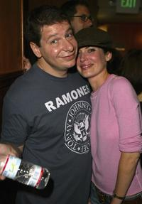 Jeffrey Ross and Lara Flynn Boyle at the Variety's Night of Comedy.