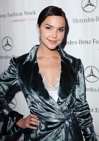 Arielle Kebbel at the Mercedes Benz Fashion Week.