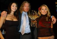 Kitana Baker, Triple H and Tanya Ballinger at the media conference announcing the all-star lineup of