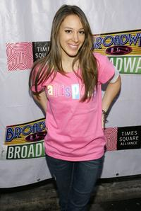 Haylie Duff at the 15th Annual Broadway On Broadway Concert.