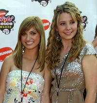 Francesca Catalano and Katija Pevec at the 18th Annual Kids Choice Awards.