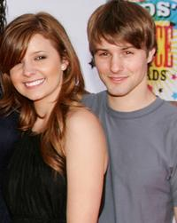 Katija Pevec and Jerad Anderson at the 19th Annual Kid's Choice Awards.